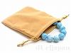 巾着袋(中) 12×10cm (フェルト/ベージュ)