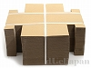 厚さ4cm ダンボール箱(A5サイズ) 22×16.5cm  100枚セット