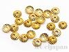 アルミ花座 4×1mm (ゴールドカラー) ×20個