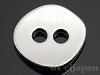 2穴ボタン ラウンド(小) 12×14mm (ロジウムカラー)