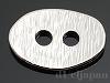 2穴ボタン オーバルヘアライン(大) 12×18mm (ロジウムカラー)