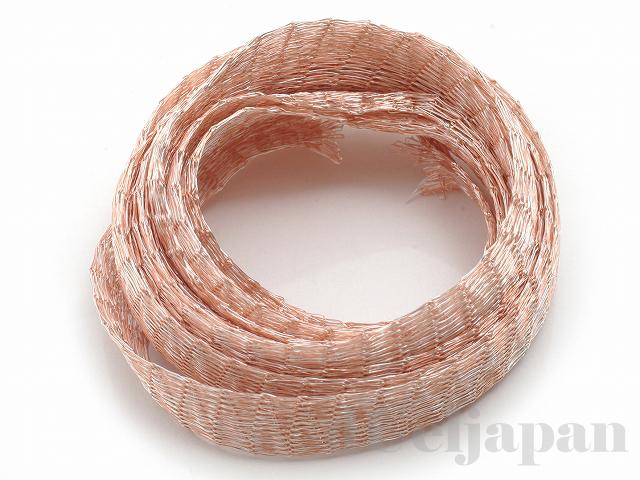 10 メタルメッシュリボン(ピンク) ×1m