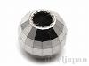 0.9〜1mmチェーン スライド調節用3mmライトミラーボール(カン無し) K14WG(ホワイトゴールド)