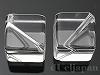 14mm キューブ(対角穴) 天然水晶 ×2個