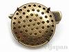 シャワー台付ヘアクリップ兼ブローチ 25mm (金古美)