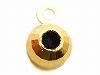 0.9〜1mmチェーン スライド調節用3mmライトミラーボール(カン付) K18YG(イエローゴールド)