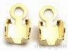 SS11.5〜12用チェーンストーン留め金具 (ゴールドカラー) ×2個
