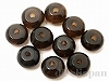 6mm ボタン スモーキークォーツ(濃色) ×10個