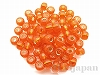 E138S 5mm Eビーズ ×10g【オレンジ銀引】